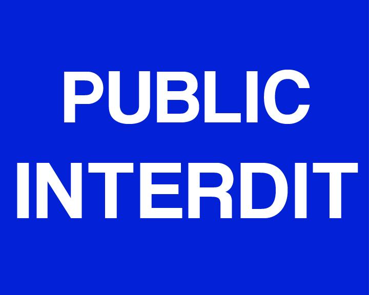 public interdit blu